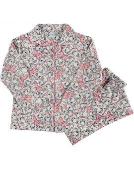Minnie Meisjes flanel pyjama Babyroze