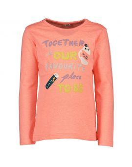 Kinder t-shirt print Neon roze
