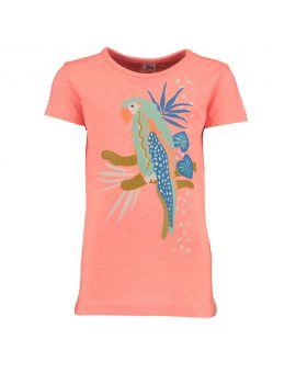 Kinder T-shirt Neon roze