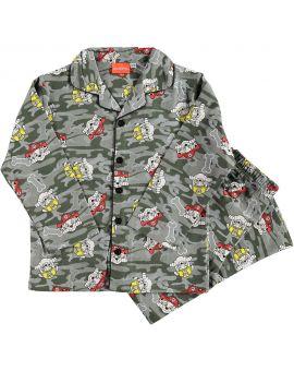 Paw Patrol Jongens flanel pyjama Donkergroen