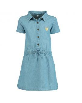 Meisjes jurk Denimblauw