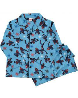 Spiderman Jongens flanel pyjama Blauw