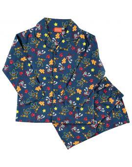 Paw Patrol Jongens flanel pyjama Blauw