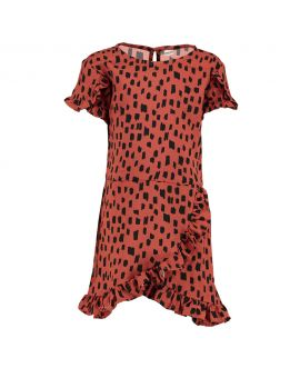 Meisjes jurk Roestbruin