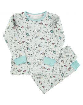 Meisjes pyjama Lichtgrijs