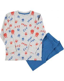 Jongens pyjama Lichtgrijs