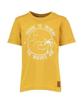 Jongens T-shirt Okergeel