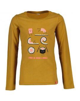 Tiener T-shirt Okergeel