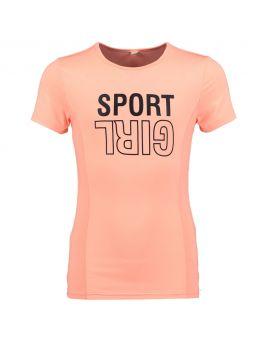 Meisjes sport shirt Perzik