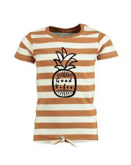 Meisjes T-shirt Bruin