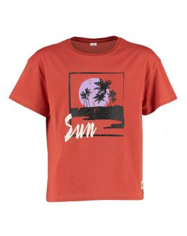 Tiener T-shirt Roestbruin