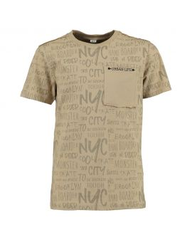 Tiener t-shirt Taupe