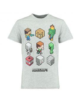 Minecraft Jongens T-shirt Grijs