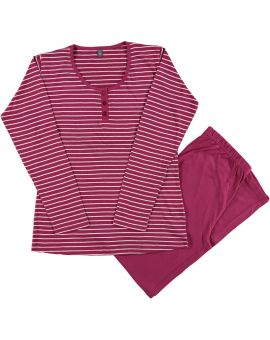 Dames pyjama Bordeaux