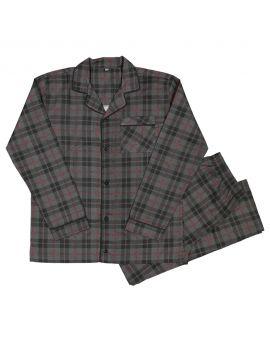Heren flanel pyjama Bordeaux