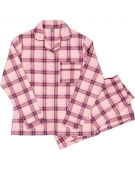 Dames flanel pyjama Roze