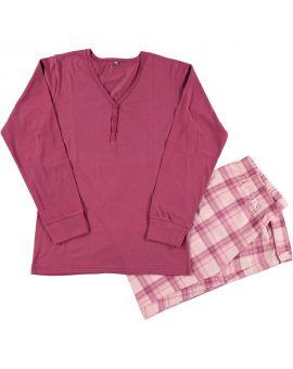 Dames pyjama Bordeaux