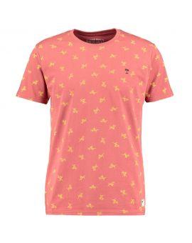 Heren T-shirt Bordeaux
