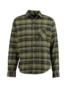 Heren flannel overhemd Groen