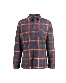 Heren flannel overhemd Blauw