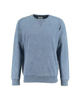 Heren sweater Denimblauw