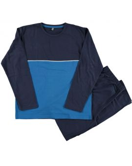 Heren pyjama Blauw