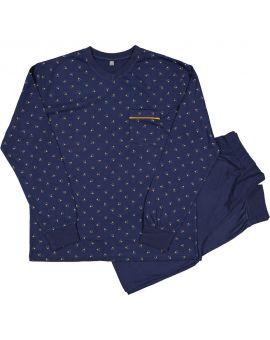 Heren pyjama Nachtblauw