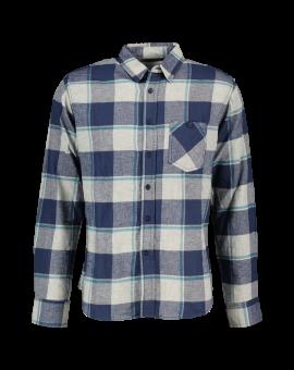 Heren flannel overhemd Navy