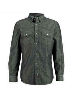 Heren overhemd Zwart