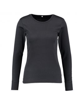 Dames thermo T-shirt Zwart