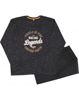 Heren pyjama Zwart