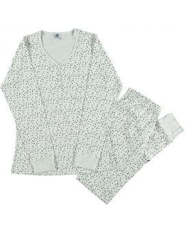 Dames pyjama Lichtgrijs