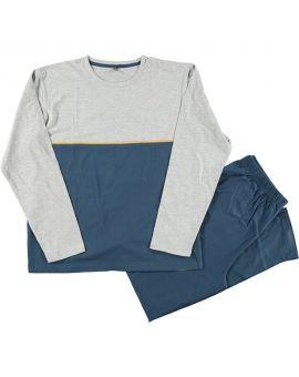 Heren pyjama Lichtgrijs
