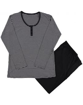 Dames pyjama Zwart