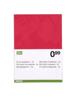 Knutselkarton Multi-color