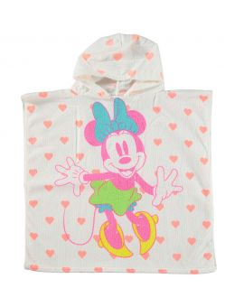 Minnie Kinder poncho Wit