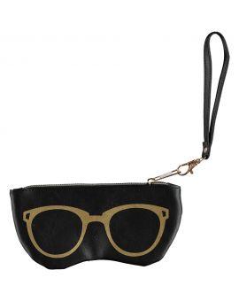 Brillenhoes met rits Zwart