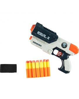 Speelgoedgeweer met munitie-armband Wit