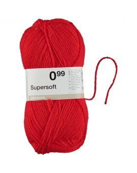 Supersoft breigaren Rood