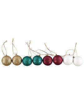 Kerstballen set Rood