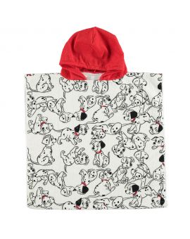 101 Dalmatiërs Kinder poncho Rood