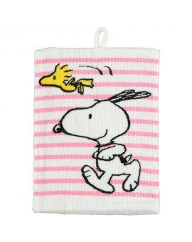 Snoopy Washand Roze