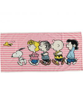 Snoopy Microvezel handdoek Roze