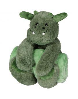 Pluche knuffel met deken Groen