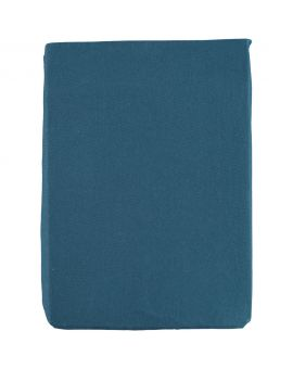 Jersey hoeslaken 2-persoons Blauw