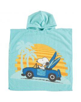 Snoopy Kinder poncho Blauw