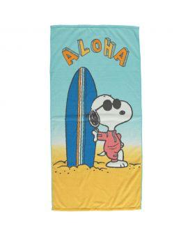 Snoopy Microvezel handdoek Blauw