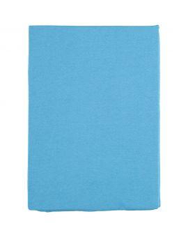 Jersey hoeslaken 1-persoons Blauw